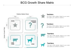 BCG Growth Share Matrix Ppt Powerpoint Presentation Layouts Infographics