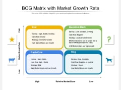 BCG Matrix With Market Growth Rate Ppt PowerPoint Presentation Gallery Layout Ideas PDF