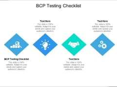 BCP Testing Checklist Ppt PowerPoint Presentation Ideas Infographics Cpb