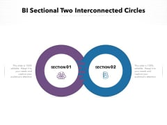 BI Sectional Two Interconnected Circles Ppt PowerPoint Presentation Infographics Infographics PDF