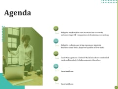 BPO For Managing Enterprise Financial Transactions Agenda Template PDF