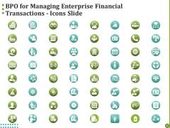 BPO For Managing Enterprise Financial Transactions Icons Slide Graphics PDF