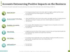 BPO Managing Enterprise Financial Transactions Accounts Outsourcing Positive Impacts On The Business Ideas PDF