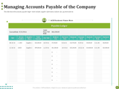BPO Managing Enterprise Financial Transactions Managing Accounts Payable Of The Company Formats PDF