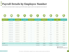 BPO Managing Enterprise Financial Transactions Payroll Details By Employee Number Icons PDF