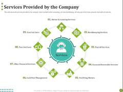 BPO Managing Enterprise Financial Transactions Services Provided By The Company Summary PDF