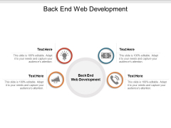 Back End Web Development Ppt PowerPoint Presentation Infographic Template Elements Cpb