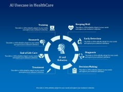 Back Propagation Program AI Usecase In Healthcare Ppt Infographic Template Samples PDF