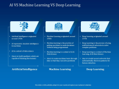 Back Propagation Program AI VS Machine Learning VS Deep Learning Ppt PowerPoint Presentation Icon Slide PDF
