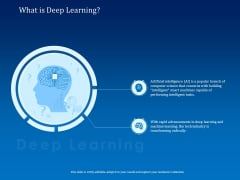 Back Propagation Program AI What Is Deep Learning Deep Learning Ppt Infographic Template Information PDF