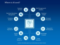 Back Propagation Program AI Where Is AI Used Ppt PowerPoint Presentation Gallery Background Image PDF