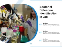 Bacterial Detection Identification In Lab Ppt PowerPoint Presentation File Example PDF