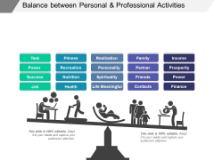 Balance Between Personal And Professional Activities Ppt PowerPoint Presentation Portfolio Topics