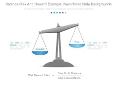 Balance Risk And Reward Example Powerpoint Slide Backgrounds