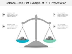 Balance Scale Flat Example Of Ppt Presentation Ppt Powerpoint Presentation Summary Introduction
