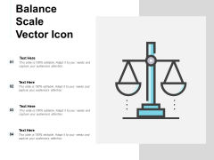 Balance Scale Vector Icon Ppt PowerPoint Presentation Summary Tips