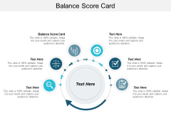 Balance Score Card Ppt PowerPoint Presentation Infographics Shapes Cpb