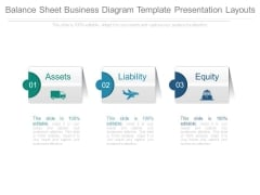 Balance Sheet Business Diagram Template Presentation Layouts