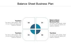 Balance Sheet Business Plan Ppt PowerPoint Presentation Portfolio Slideshow Cpb
