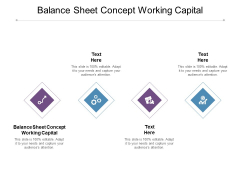 Balance Sheet Concept Working Capital Ppt PowerPoint Presentation Ideas Graphics Cpb