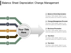 Balance Sheet Depreciation Change Management Process Business Promotion Ppt PowerPoint Presentation Ideas File Formats