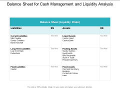 Balance Sheet For Cash Management And Liquidity Analysis Ppt PowerPoint Presentation Inspiration Maker