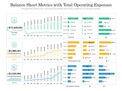Balance Sheet Metrics With Total Operating Expenses Ppt PowerPoint Presentation Summary Inspiration PDF