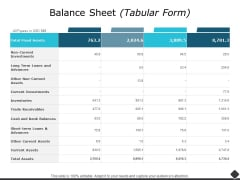 Balance Sheet Ppt PowerPoint Presentation Summary