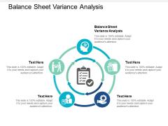 Balance Sheet Variance Analysis Ppt PowerPoint Presentation Gallery Design Inspiration Cpb