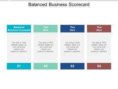 Balanced Business Scorecard Ppt Powerpoint Presentation Infographic Template Templates Cpb