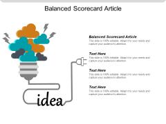 Balanced Scorecard Article Ppt PowerPoint Presentation Slides Influencers Cpb