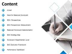 Balanced Scorecard Outline Content Ppt PowerPoint Presentation Ideas Infographics PDF