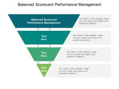 Balanced Scorecard Performance Management Ppt PowerPoint Presentation Professional Display Cpb
