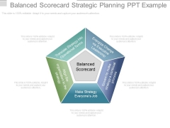 Balanced Scorecard Strategic Planning Ppt Example