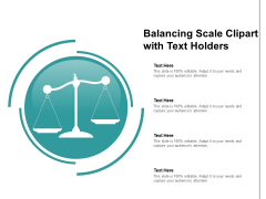 Balancing Scale Clipart With Text Holders Ppt Powerpoint Presentation File Images