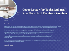 Balancing Skill Development Cover Letter For Technical And Non Technical Sessions Services Guidelines PDF