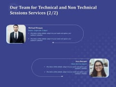 Balancing Skill Development Our Team For Technical And Non Technical Sessions Services Corporate Background PDF