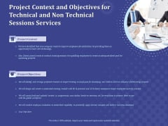 Balancing Skill Development Project Context And Objectives For Technical And Non Technical Sessions Services Introduction PDF