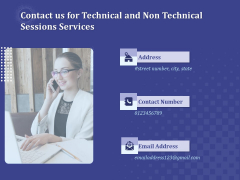Balancing Technical And Non Technical Skill Development Contact Us For Technical And Non Technical Sessions Services Icons PDF