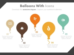 Balloons Diagram For Financial Goal Planning Powerpoint Slides