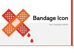 Bandage Icon Finger Injury Medical Red Cross Ppt PowerPoint Presentation Complete Deck