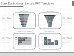Bank Dashboards Sample Ppt Templates