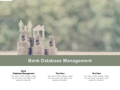 Bank Database Management Ppt PowerPoint Presentation Infographic Template Rules Cpb Pdf