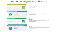Bank RPA Management Plan With Icons Ppt Styles Deck PDF