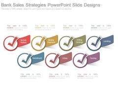 Bank Sales Strategies Powerpoint Slide Designs