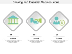 Banking And Financial Services Icons Ppt PowerPoint Presentation Show Graphic Images