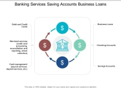 Banking Services Saving Accounts Business Loans Ppt PowerPoint Presentation Styles Design Inspiration