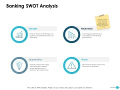 Banking Swot Analysis Ppt PowerPoint Presentation Styles Files