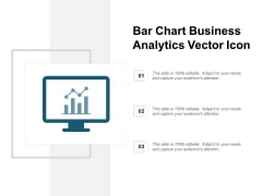 Bar Chart Business Analytics Vector Icon Ppt PowerPoint Presentation Layouts Shapes