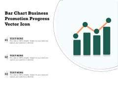 Bar Chart Business Promotion Progress Vector Icon Ppt PowerPoint Presentation Gallery Mockup PDF
